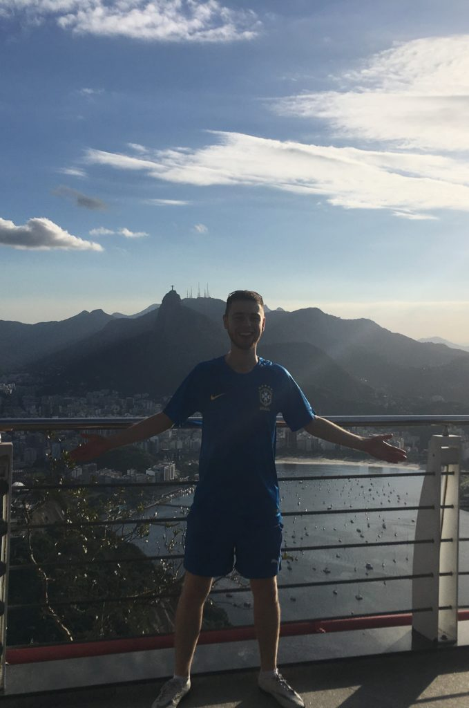 Manchester sports journalism trainee Jacob at Christ the Redeemer