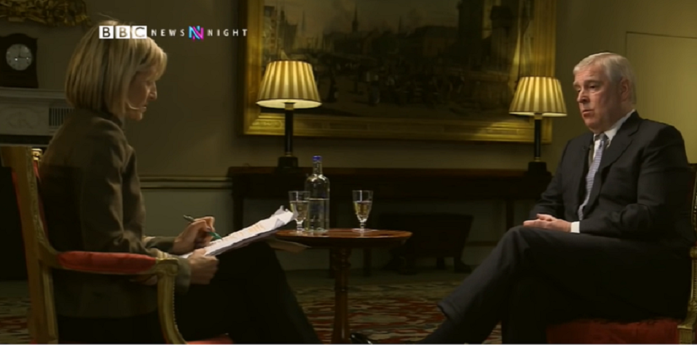 Emily Maitlis interviewing Prince Andrew, Duke of York