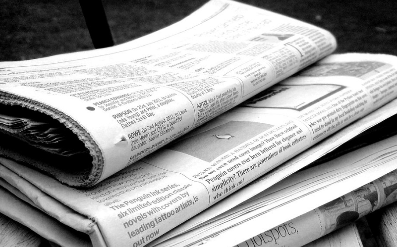 Pile of newspapers, Jon S on Flickr