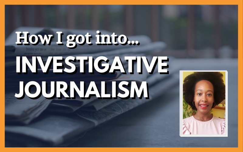 How I got into investigative journalism, with photo of Vicky Gayle on the right